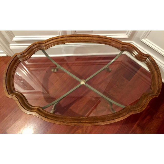 1990s 1990s American Classical Drexel Heritage Claw Foot Coffee Table For Sale - Image 5 of 7