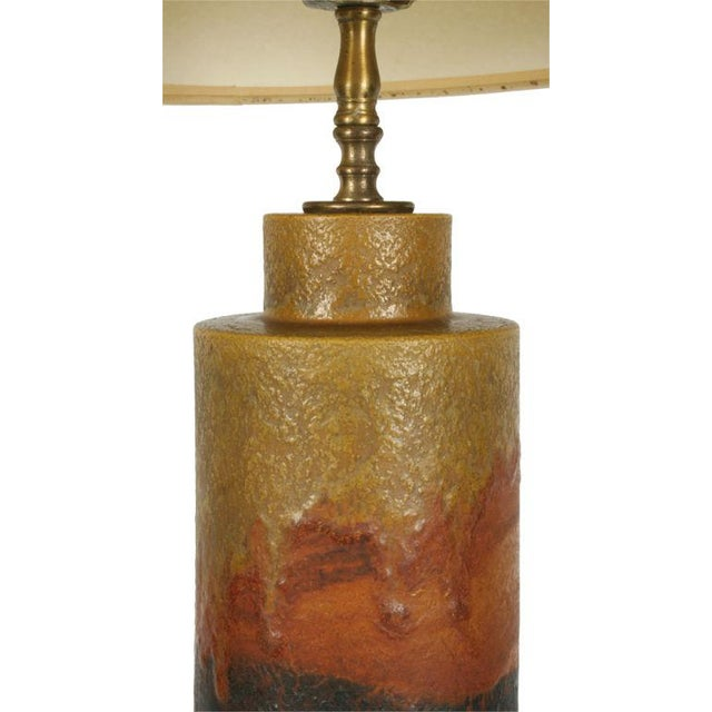 Marcello Fantoni Marcello Fantoni Desert Tone Drip Glaze Ceramic Table Lamp For Sale - Image 4 of 7