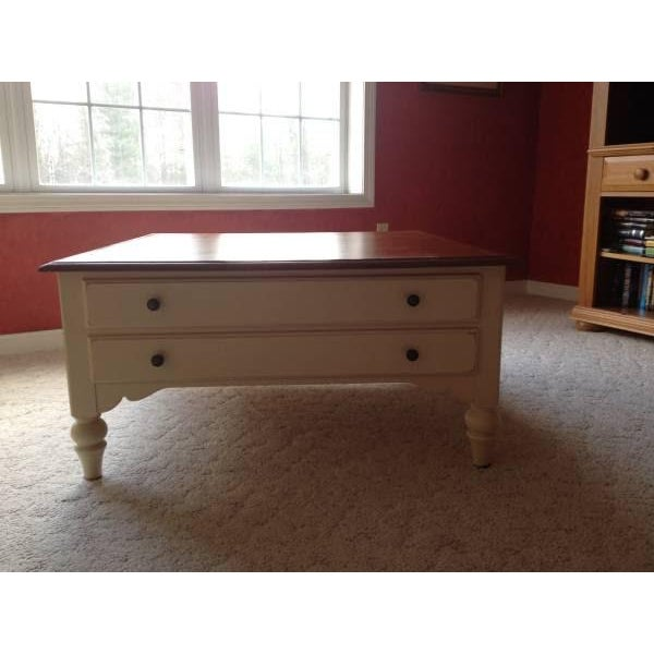 Ethan Allen Country Crossings Maple Coffee Table Chairish