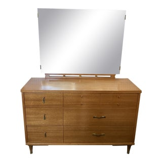 1960s Mid Century Chest of Drawers With Mirror For Sale
