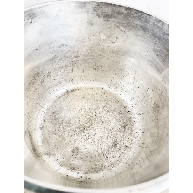 1920s Silver Plated Ice Bucket From South Shore Line Railroad For Sale - Image 5 of 9