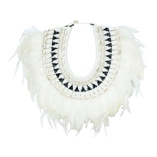 Feather Shell Necklace on Stand For Sale