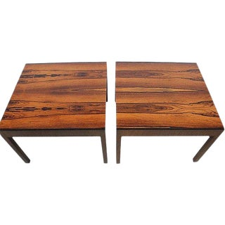 Baker Rosewood Side Tables - A Pair For Sale