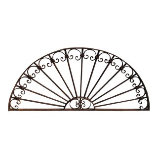 Mid 19th Century Antique Wrought Iron Decorative Window Guard For Sale