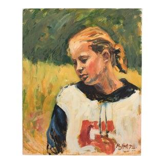 1992 Mogens Hoff Portrait of a Girl For Sale