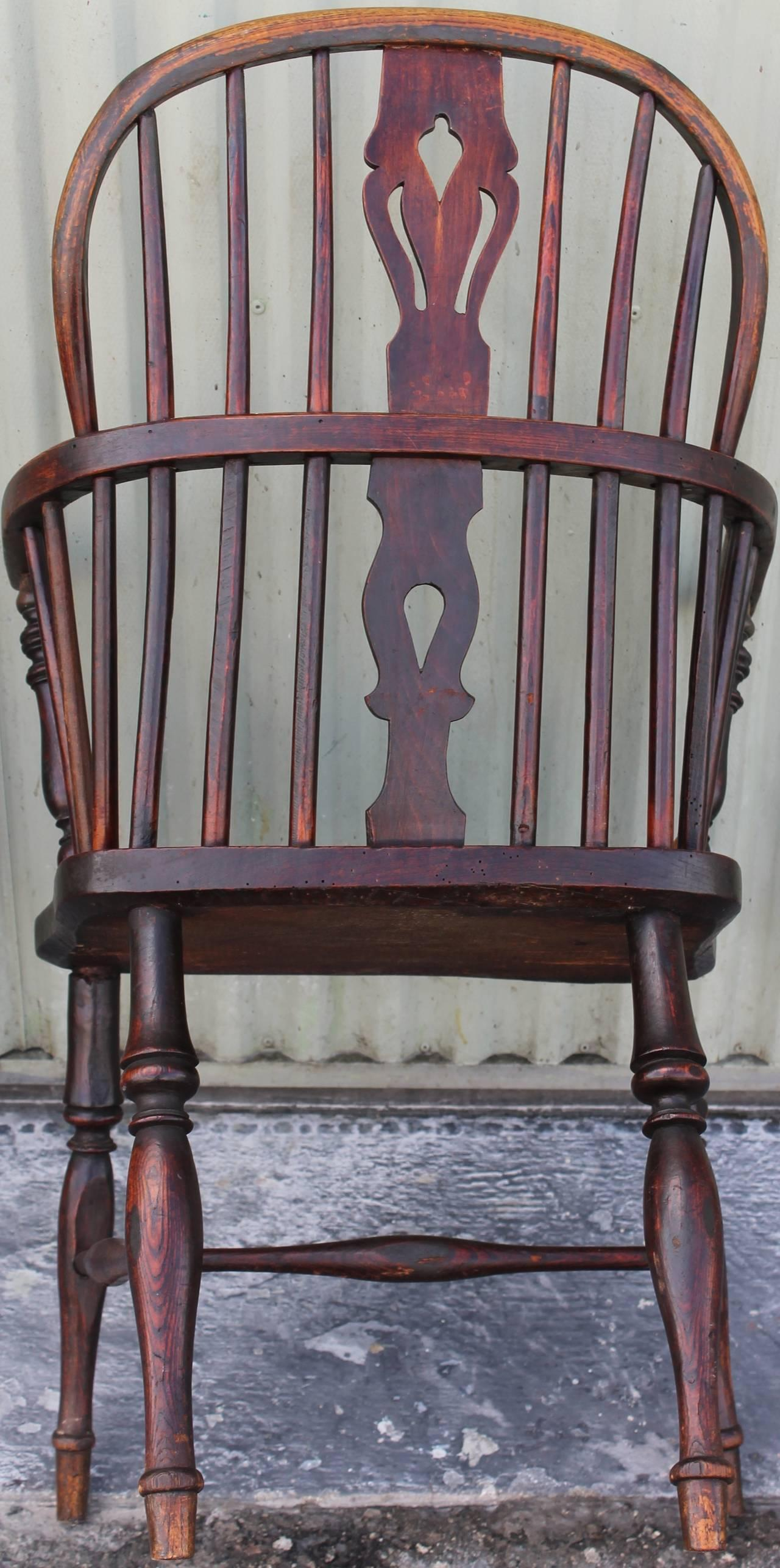 Amazing Pair of 18Thc English Extended Arm Windsor Chairs For Sale In Los Angeles - Image  sc 1 st  Decaso & Fine Amazing Pair of 18Thc English Extended Arm Windsor Chairs | DECASO