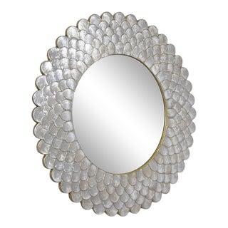 Round Sunburst Mirror For Sale