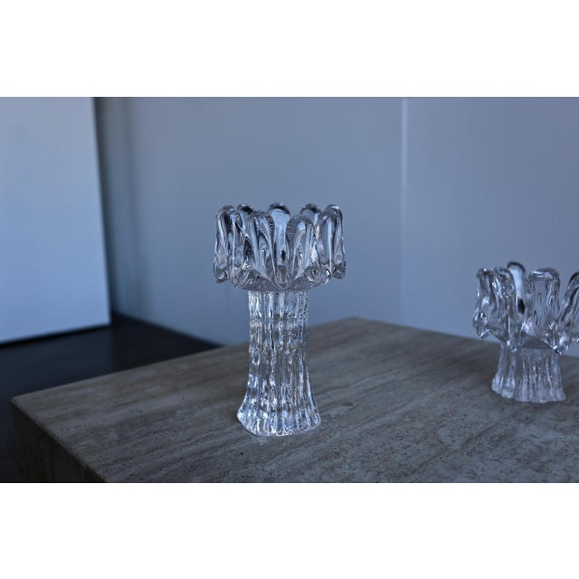 Kosta Boda 1970s Goran Wärff for Kosta Boda Sunflower Candle Holders - Set of 3 For Sale - Image 4 of 8
