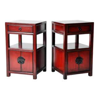 Late 19th Century Chinese Bed Side Chests - a Pair For Sale