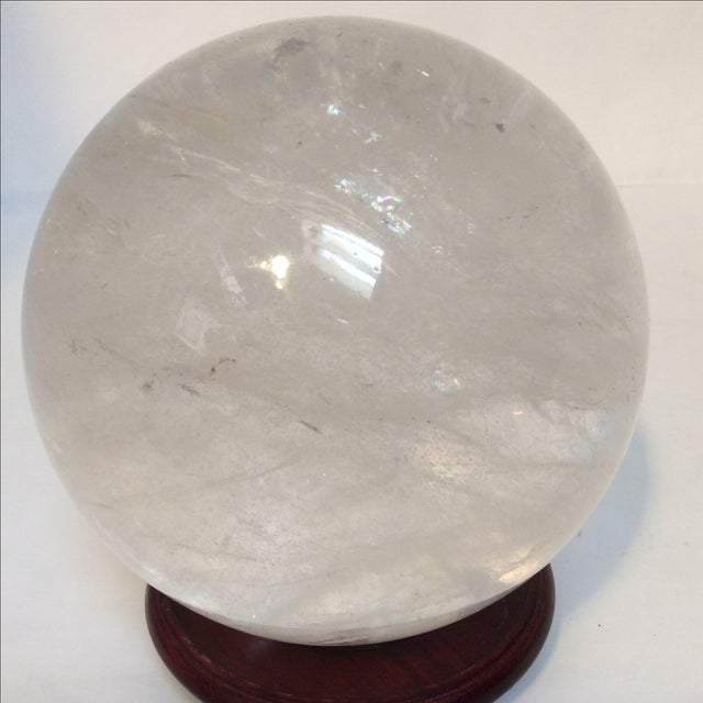 Large Quartz Crystal Ball - Image 3 of 9