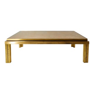 Maison Jansen Brass Lacquered Coffee Table For Sale