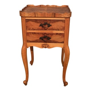 Antique Honduran Mahongany Two-Drawer Side Table