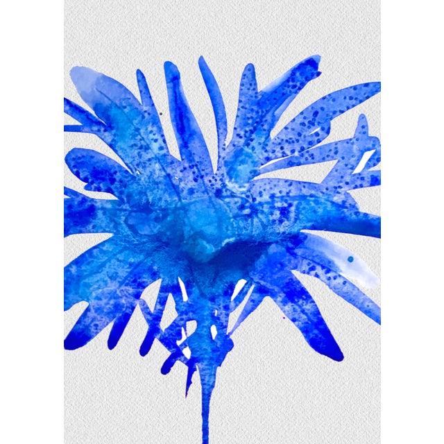 Framed Blue Botanical Print - Image 3 of 3