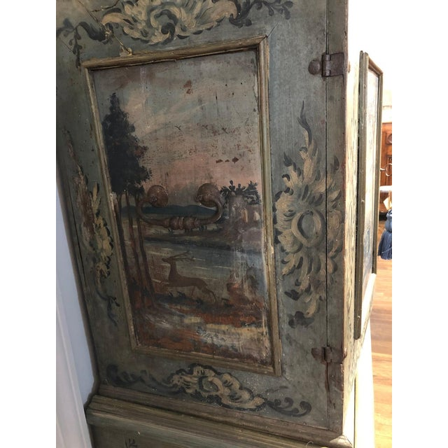 Baroque 17th Century Blue Hand Painted Swiss Baroque Multi-Drawer Cabinet For Sale - Image 3 of 8