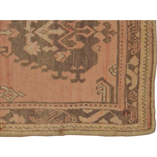 """Vintage Turkish Oushak Rug - 4'0"""" X 6'7"""" - Image 3 of 3"""