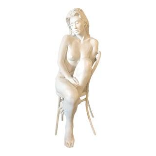 Bill Mack Solitude Maquette Bronze Sculpture Signed Original Female Nude Artwork For Sale