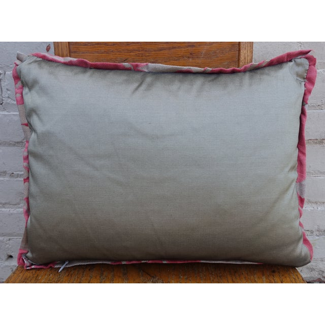 Pink & Silver/Gold Fortuny Pillow - A Pair - Image 4 of 4
