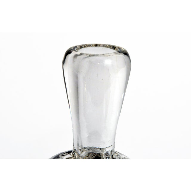 Hand-Blown Glass Imprints of Indian Print Block Vase For Sale - Image 4 of 10