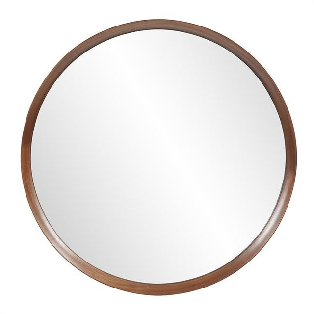 Reagan Round Wood Mirror from Kenneth Ludwig Chicago For Sale In Chicago - Image 6 of 6