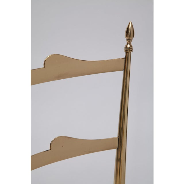 Metal Rare Tall Back Brass Chiavari Chairs With Truncated Legs For Sale - Image 7 of 11
