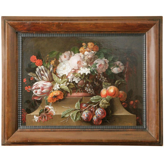 18th C. Dutch Still Life Oil Painting For Sale - Image 11 of 11