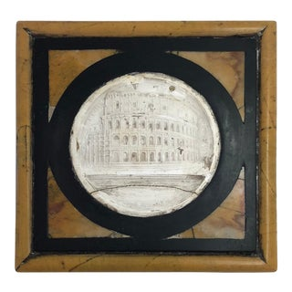 Late 19th Century Grand Tour Inlaid Specimen Marble Paperweight For Sale