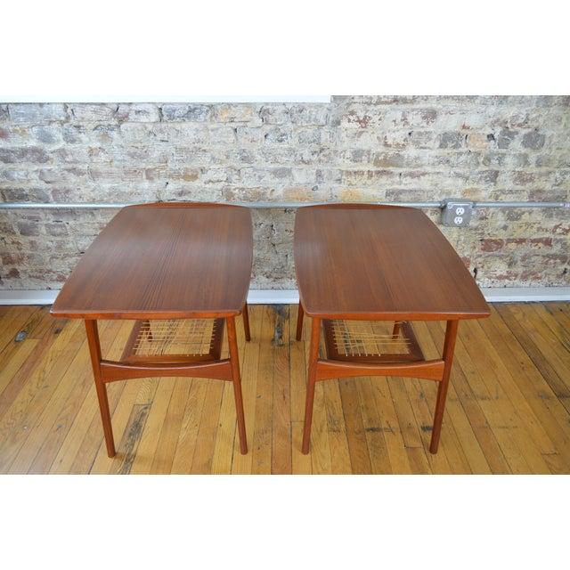 1960s Arne Hovmand Olsen for Mogens Kold Danish Teak End Tables For Sale - Image 5 of 10
