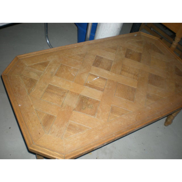 Wood Henredon Rustic Country Coffee Table For Sale - Image 7 of 11