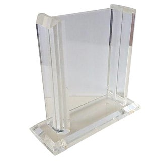 Lucite Standing Picture Frame