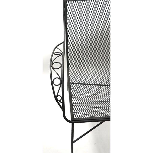 Woodard Furniture Co. Woodard Garden Patio Settee Loveseat Bench For Sale - Image 4 of 11