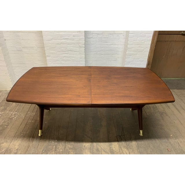 "Mid-Century Modern Fredrik Kayser ""Captains"" Dining Table For Sale - Image 3 of 9"