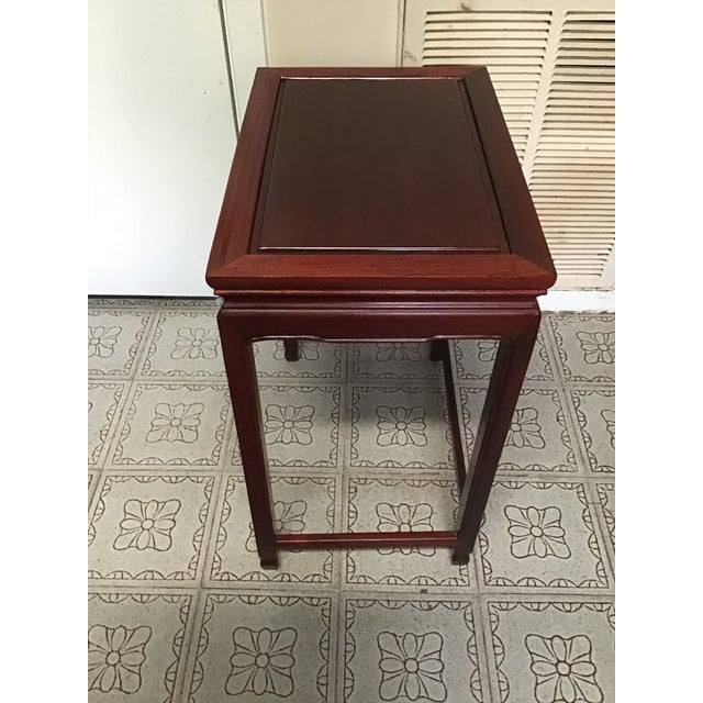 1900s Chinese Mahogany Handmade Side Table For Sale - Image 4 of 12