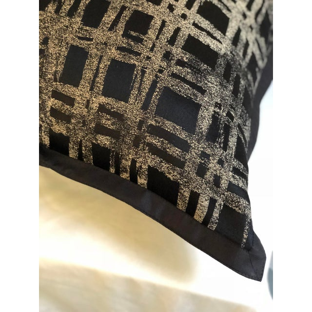 """Pair of 20"""" Black and Gilt Silk Pillows by Jim Thompson For Sale - Image 10 of 11"""