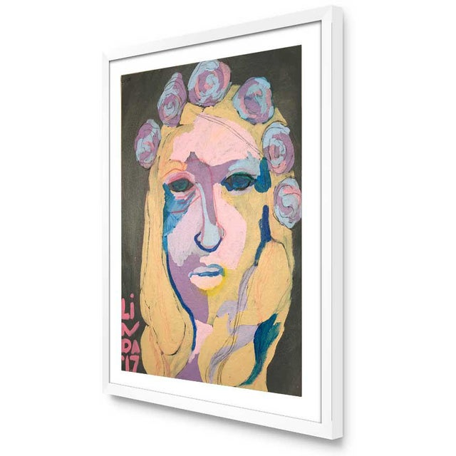 "Abstract Contemporary Abstract Portrait Painting ""Special Secrets No. 2"" - Framed For Sale - Image 3 of 12"
