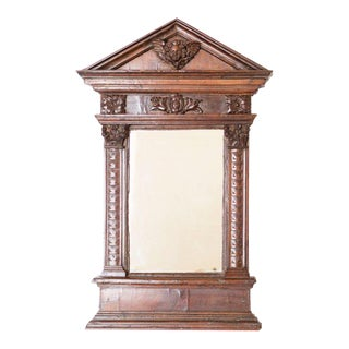 18th Century Carved Italian Tabernacle Mirror