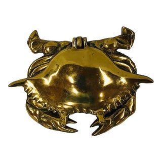 Late 20th Century Brass Crab Trinket Box For Sale