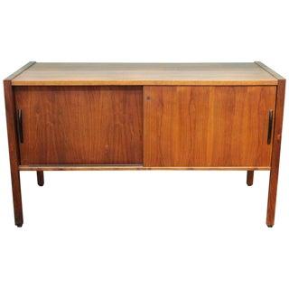 1970s Mid Century Modern Jens Risom Teak Credenza For Sale