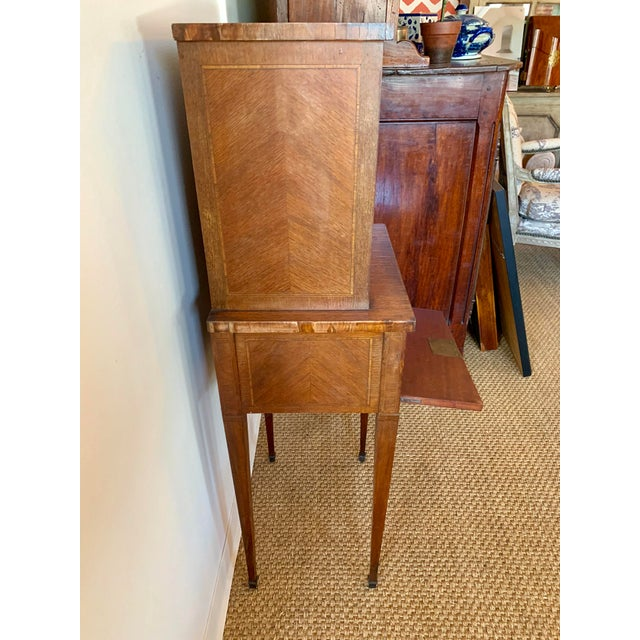 French French Wood Phone Cabinet For Sale - Image 3 of 11