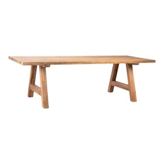 Reclaimed Teak Outdoor Dining Table For Sale