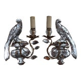 Image of 1920s Maison Bagues Signed French Art Deco Opposing Face Parrot Sconces - a Pair For Sale