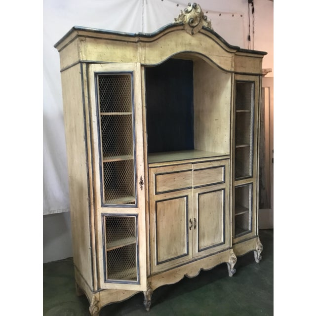 1940s French Carved Center Crown Armoire For Sale - Image 5 of 13