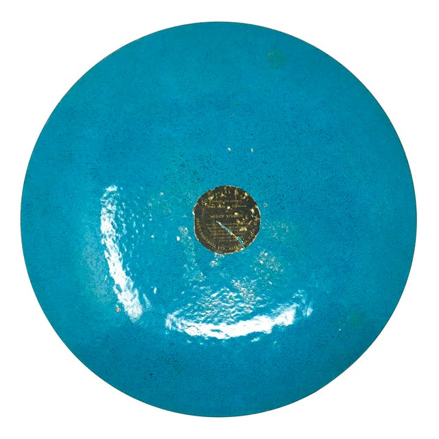 Vintage Enameled Copper Decorative Plate by Mesick Studios For Sale In Sacramento - Image 6 of 8