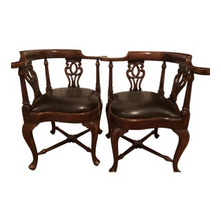 Theodore Alexander Corner Chairs - A Pair For Sale
