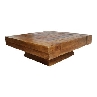 Modern Square Block Coffee Table For Sale