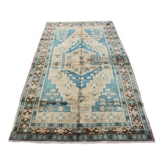 Antique Oushak Floor Rug - 4′11″ × 9′8″