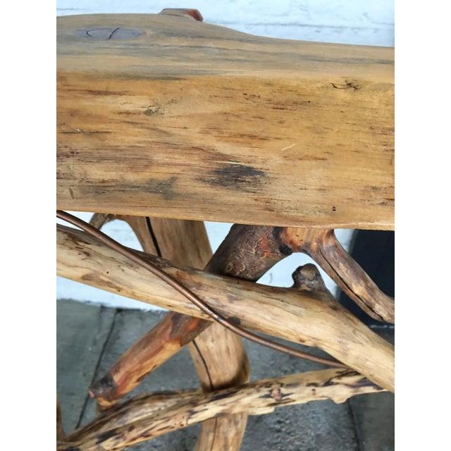 Lodge Live Edge Branch Base Console For Sale In Los Angeles - Image 6 of 12