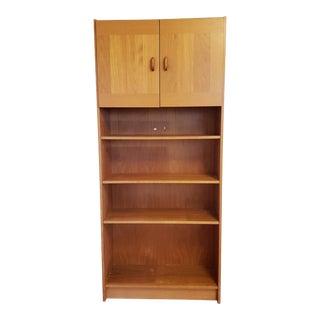 Vintage Scandinavian Wall Unit Book Case Shelf Cabinet For Sale
