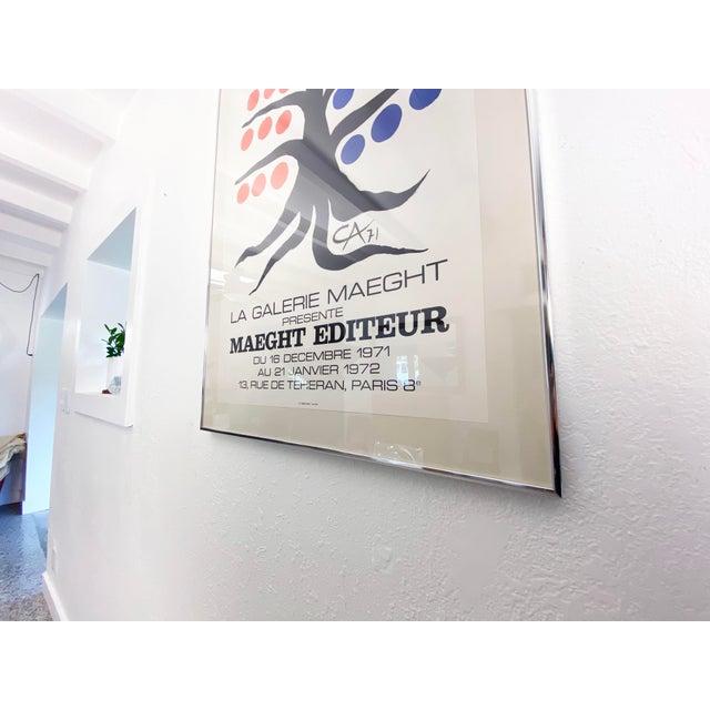 A vintage Alexander Calder Exhibition poster for the Maeght Foundation Gallery in Paris France circa 1971. Framed under...