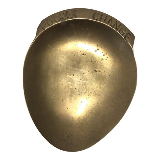 Vintage Brass Pocket Change Dish - Image 1 of 9