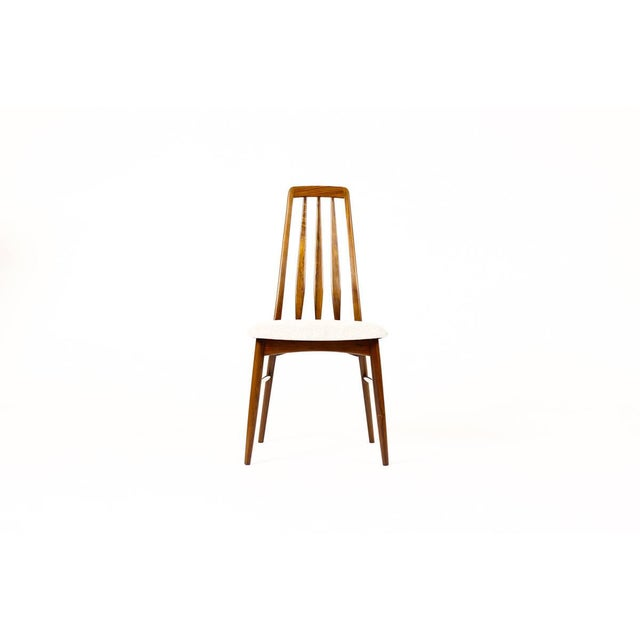"Koefoeds Hornslet Danish Modern / Mid-Century ""Eva"" Dining Chairs — Niels Koefoed — Rosewood Frames — Set of 4 For Sale - Image 4 of 11"
